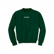 Victory Embroidered Green Crewneck