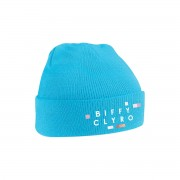 Embroidered Blue Biffy Clyro Logo Beanie