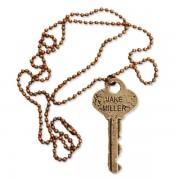 Brass Key Necklace