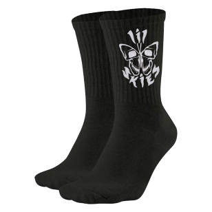 Butterfly Skull Socks (Black)