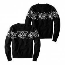 A sweater constructed from 100% acrylic.