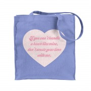 Handle Heart Tote Blue